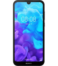 Huawei Y5 2019 (Faux Leather) - Modern Black
